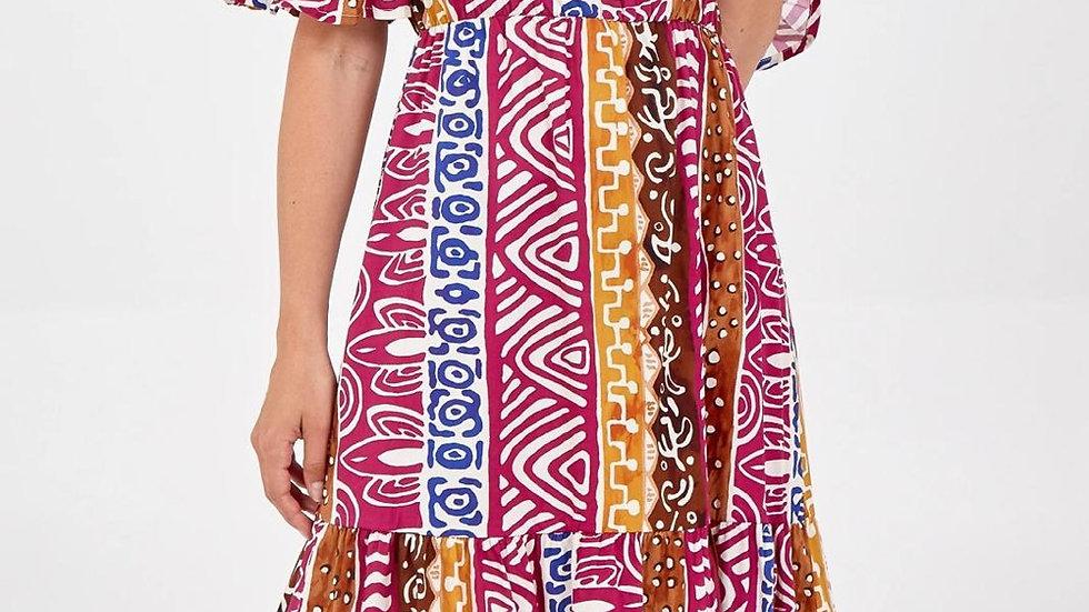 Bright Patterned Summer Dress