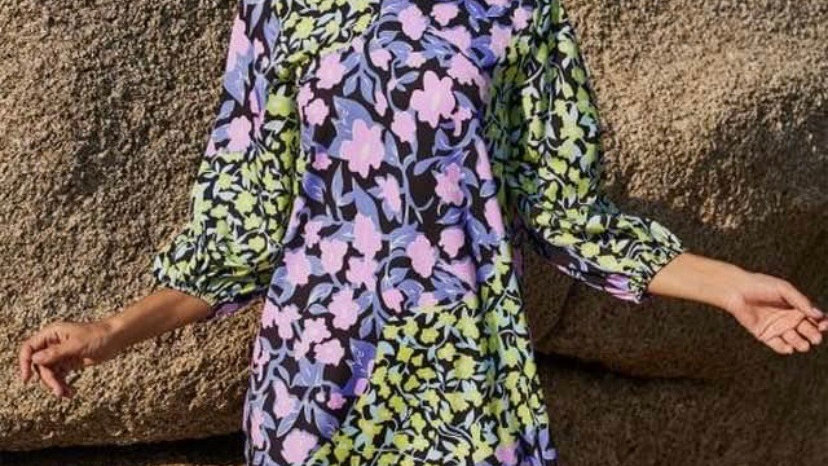 LooBees Wild Flower Sophisticated Dress LB08
