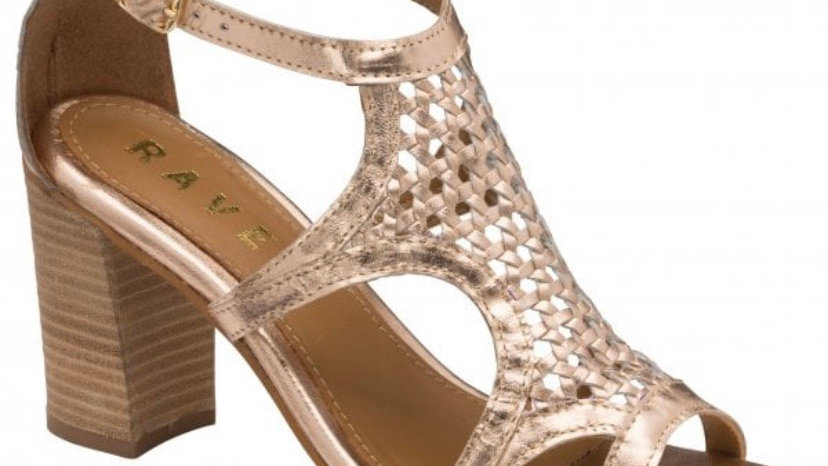 Ravel Coreen Rose Gold Leather Heeled Sandals