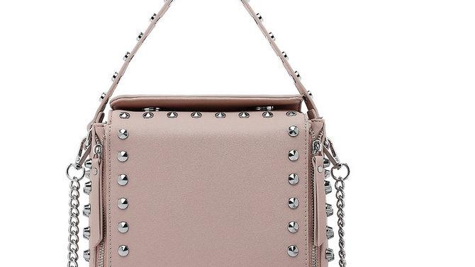Designer Inspired Leather Bag - Blush Pink