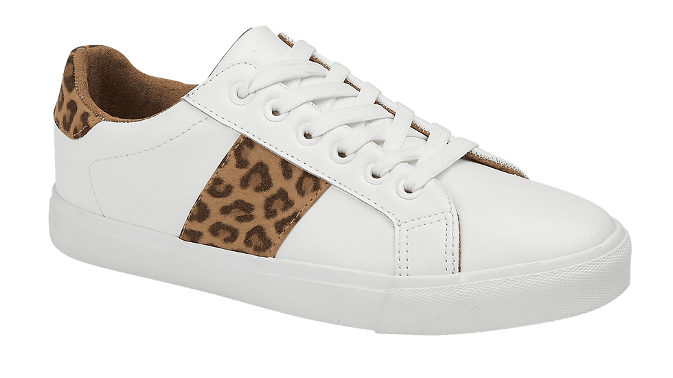 White Leopard Trainers