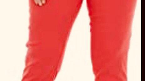 Pinns Heatwave Orange Ankle Grazer Trousers