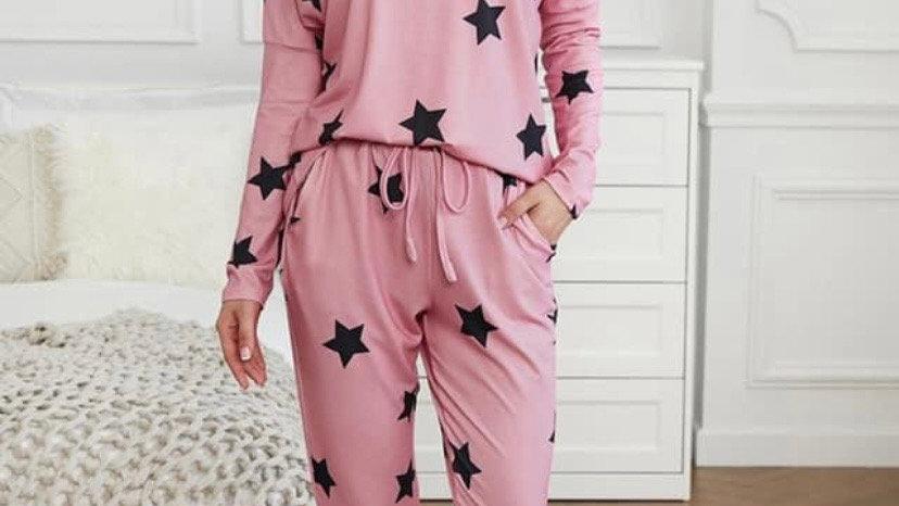 LooBees  Pink Star Loungewear LB07