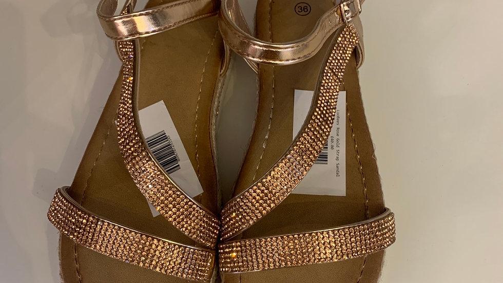 Rose Gold Strap Sandals