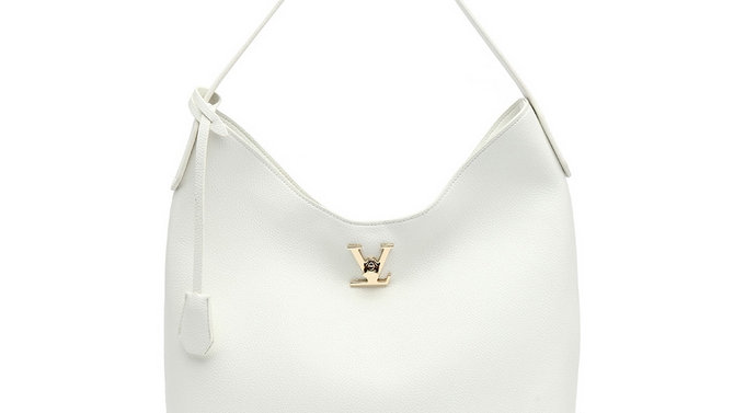 Designer Inspired White Leather Bag