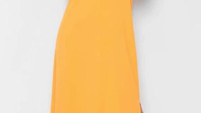 Orange Maxi with Shoe string Straps