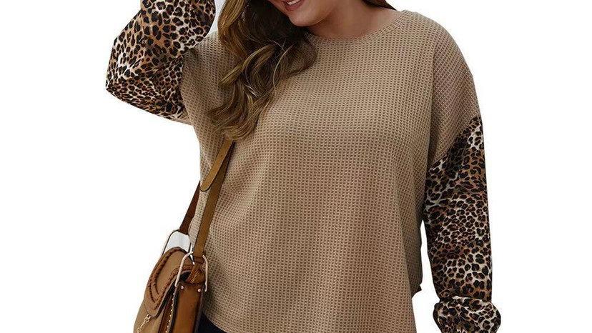 LooBees Curvy Camel Leopard Jumper