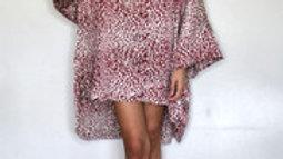 Gini London Oversized Leopard Print Hi Low Shirt Dress