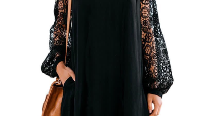 Black Dress with Statement Sleeves