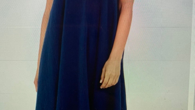 Navy Cheesecloth Maxi Dress