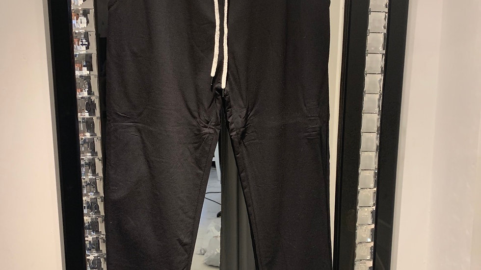 Black joggers with grey waistband