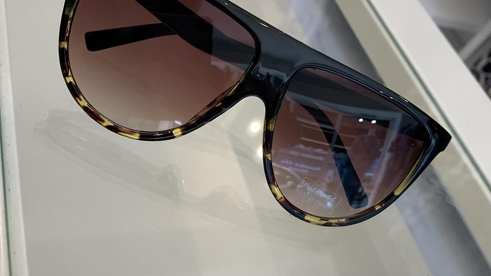 Flat Top Brown Leopard Sunglasses