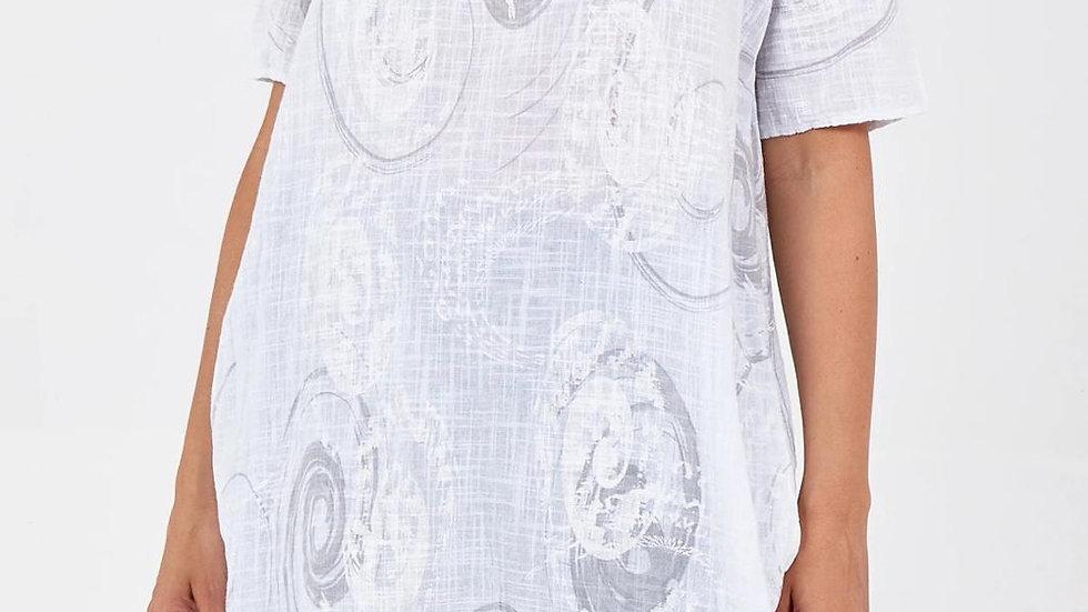 Oversized Grey & White Swirl Pattern Dress