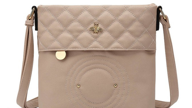 Pink/Beige Cross Body Bag