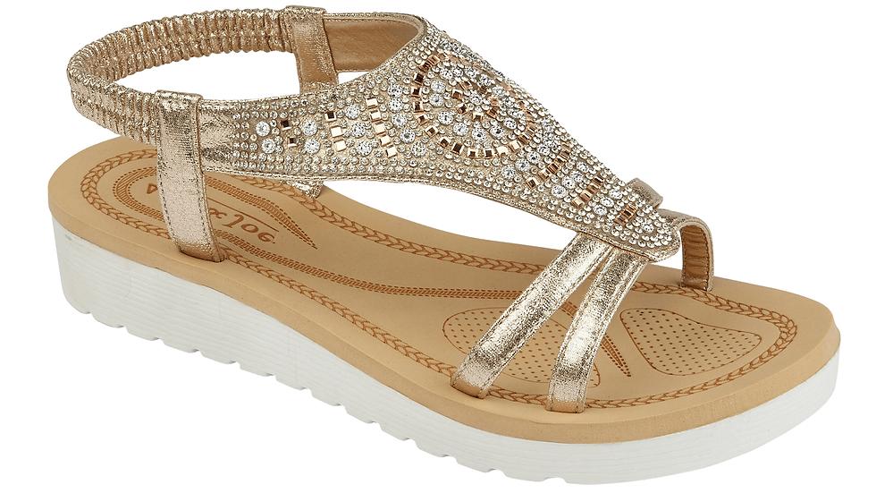 Nautical Moroccan Gold Sandal