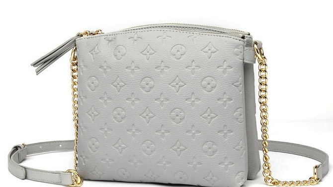 L'Grey Designer Inspired double zip Cross Body Bag with card holder