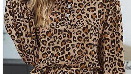 Leopard Print Hoodie And Short Set