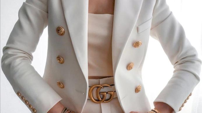 Gold Button Blazers