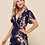 Thumbnail: LooBees Navy Floral Batwing Sleeve Jumpsuit