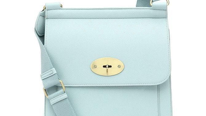 Women's Light Blue Trendy Crossover Bag