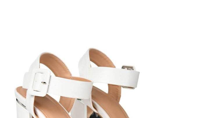 Wide Fit Two Part Block Heel Sandals