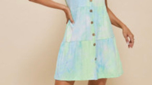 LooBees Tie Dye Beach Dress