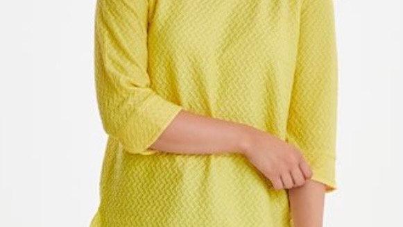Fransa Knitted Top in Lemon Zest