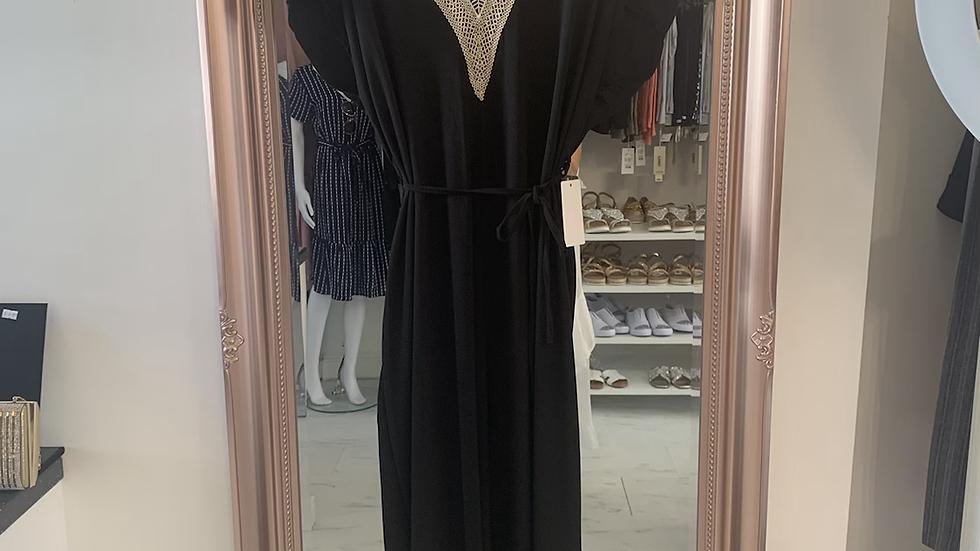 Black Jumpsuit with Detailed Neckline