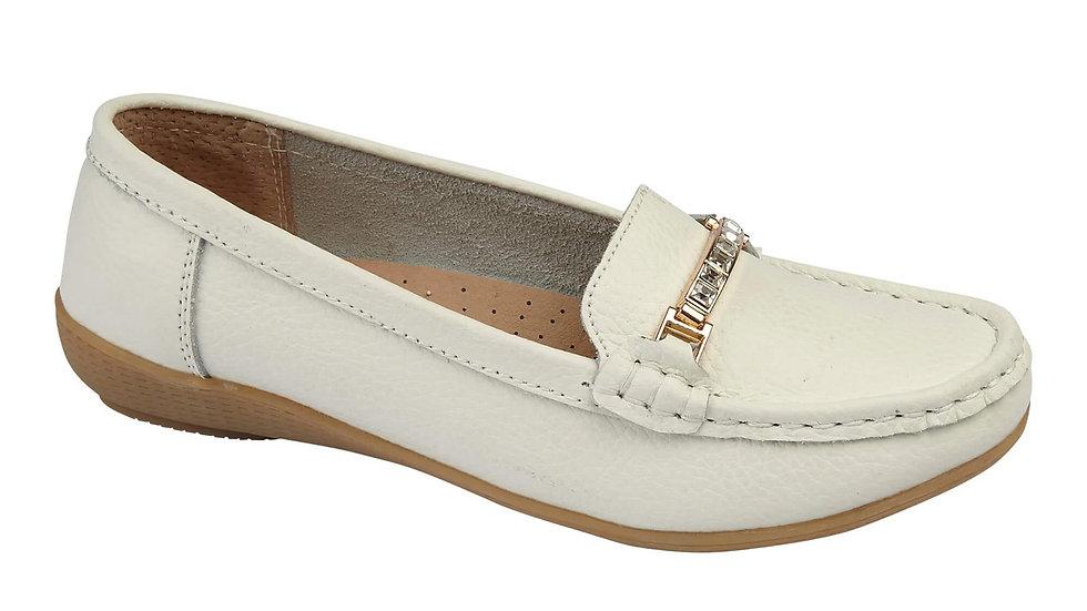 Tobago White Loafer