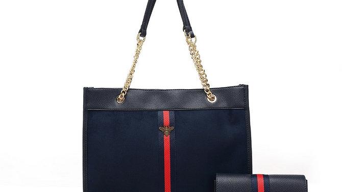 Designer Inspired Bag and Purse - Black