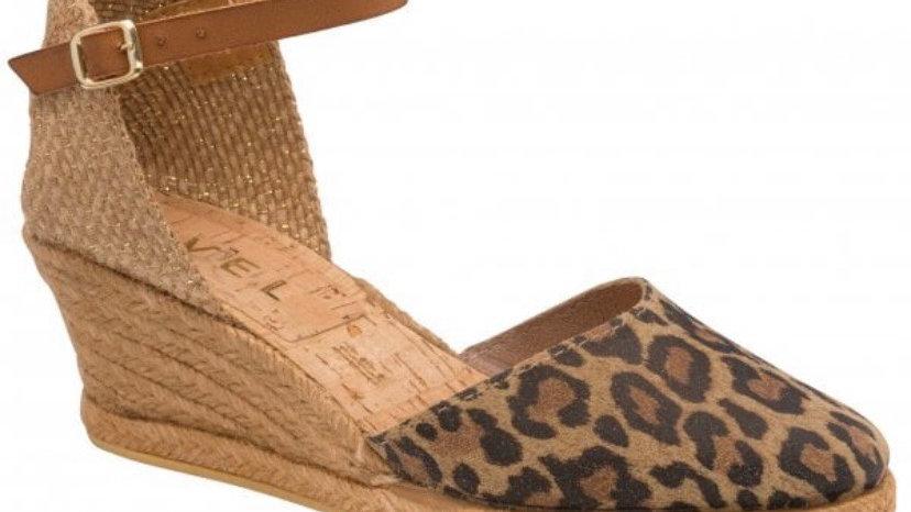 Ravel Espadrille Wedge Leather Leopard Sandals