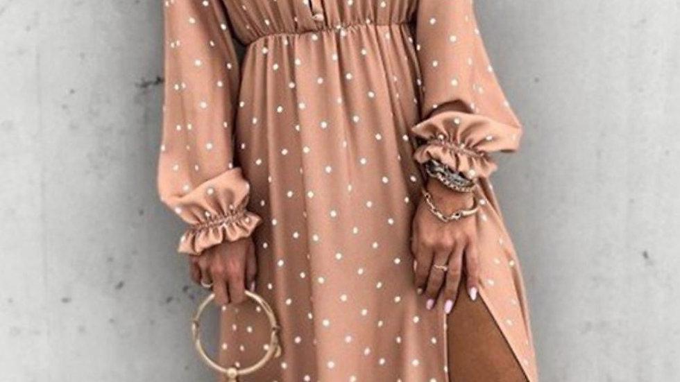 LooBees Dusky Pink Long Sleeve Dress