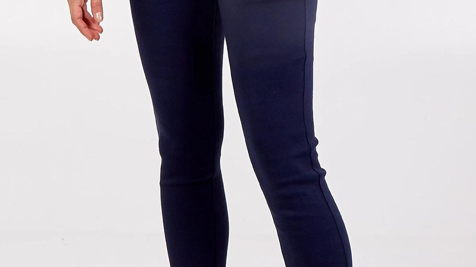 High waisted stretchy navy skinny jeans