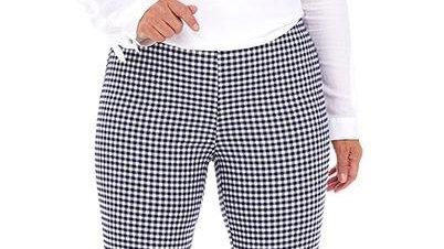 Pinns Navy & White Gingham Trousers