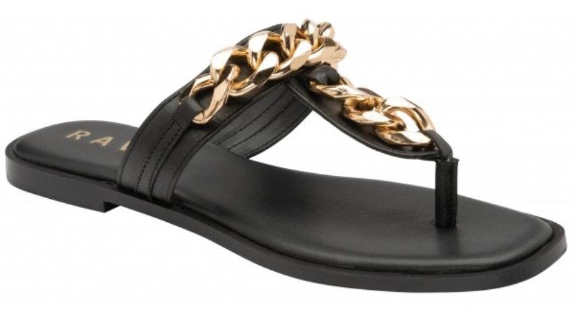 Ravel Serena Flat Leather Toe Post Sandal