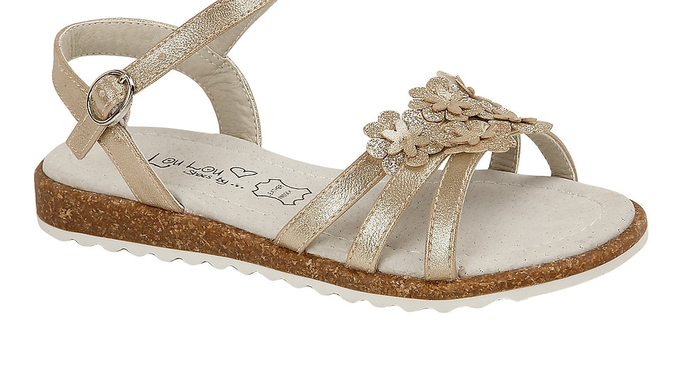 Phoebe Gold Childrens Sandal