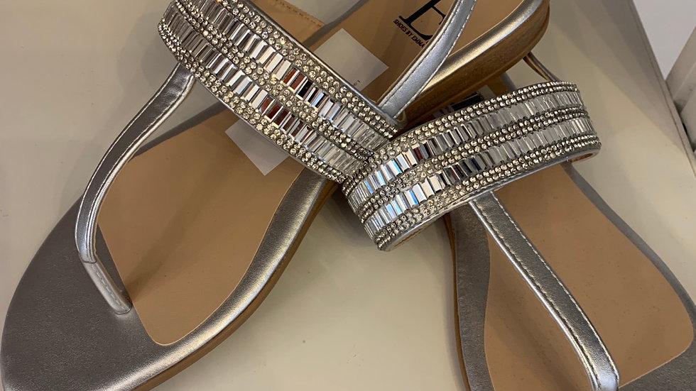 Diamond Encrusted Flat Sandals