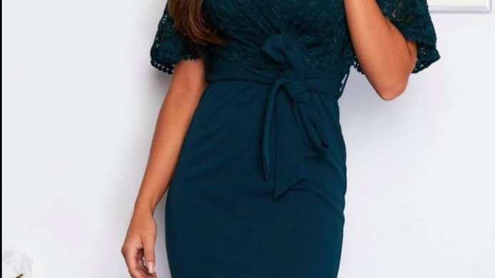 Girl in mind lace detail dress