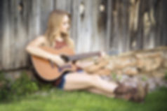 Senior Picture Girl Playing Guitar