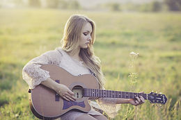 Senior Picture Playing Guitar
