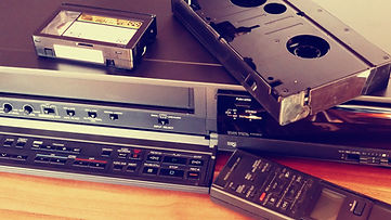 VCR with VHS-C tapes and adapter