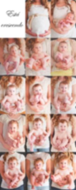 Desenvolvimento de um bebê em fotos
