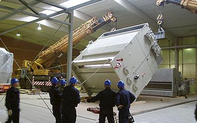 Equipment installation Millwright rigging