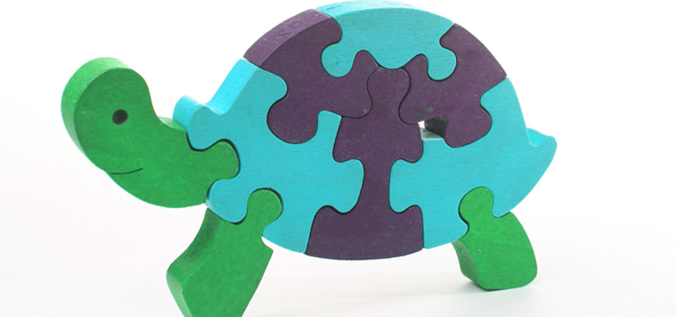 3D-Schildkröte Puzzle