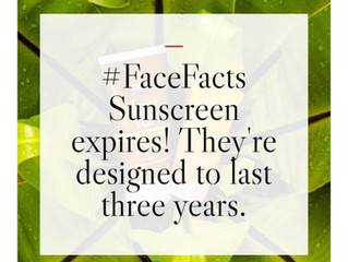 #FaceFacts – Sunscreen Expires!