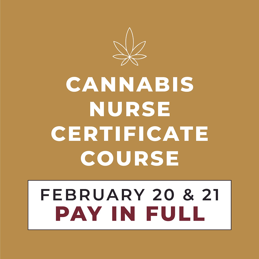 FEB. 20 & 21   2-Day Course   Pay in Full