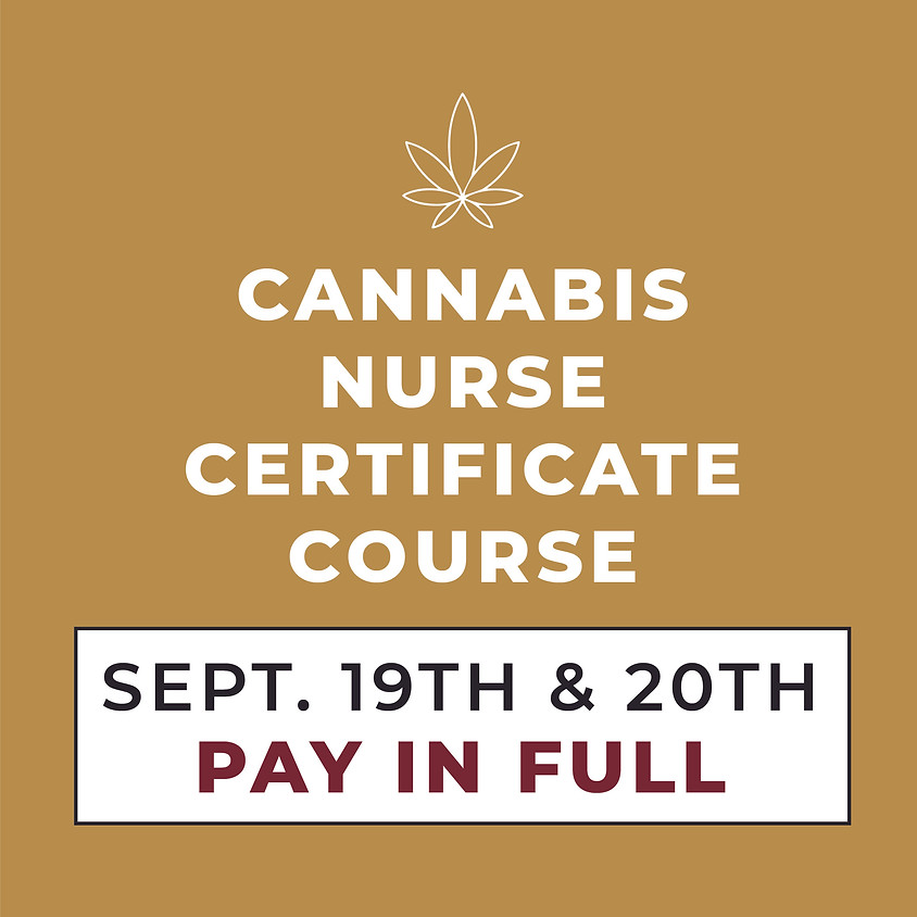 SEPT. 19TH & 20TH   2-Day Course   Pay in Full