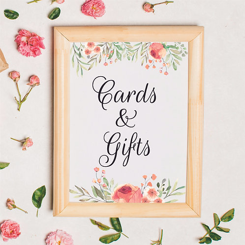 """Peachy Keen """"Cards & Gifts"""" 5"""" x 7"""" Printable"""
