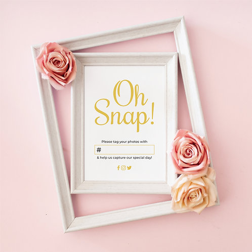 """Golden Hour """"Oh Snap"""" Printable"""