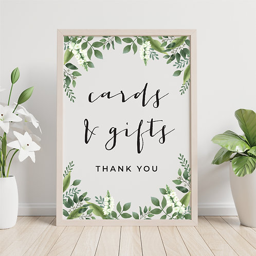 """Ivory Accents """"Cards & Gifts"""" 5"""" x 7"""" Printable"""